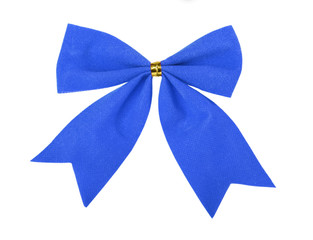 Beautiful blue gift bow
