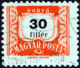 Numeric value stamp (Hungary 1958)