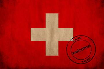 flag and stamp