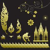 Fototapety Thai art pattern, Vector illustration