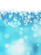Christmas blue background with snow flakes. EPS 10