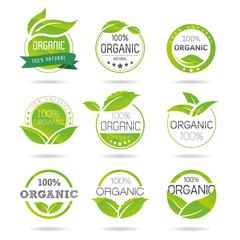 Ecology, organic icon set. Eco-icons
