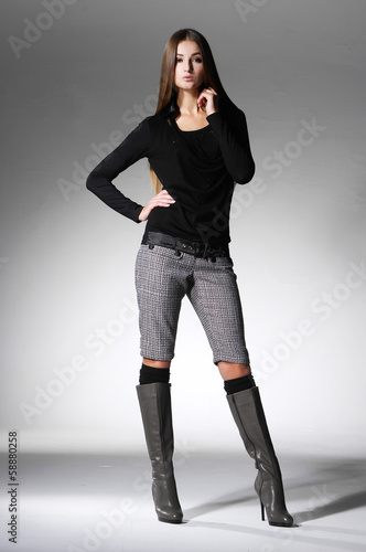 A photo of beautiful girl is in fashion style -full body