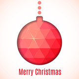 Christmas card with colored ball