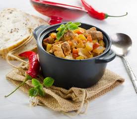 Vegetable and meat stew