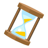 hourglass isolated illustration