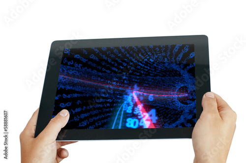 tablet pc with numbers