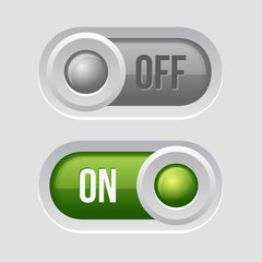 Toggle Switch Sliders On and Off position.