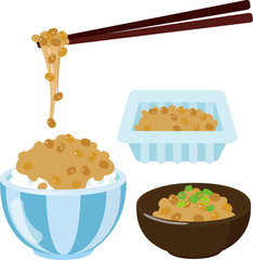 パック入り納豆と白ご飯