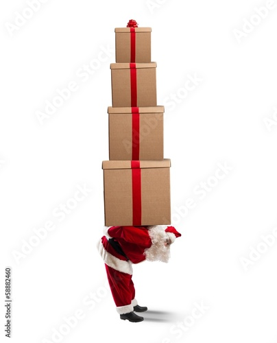Santa Claus full of gifts