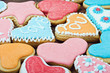 Valentine cookies with the words I love you