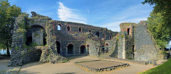Ruins of Kaiserpfalz in Kaiserswerth district of Dusseldorf