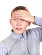 Boy feel headache