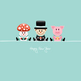 Fly Agaric, Chimney Sweeper & Pig Lucky Charms Retro
