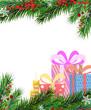 Christmas presents and Christmas tree