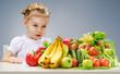 A beautiful girl eating fresh fruit
