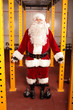 Santa Claus before Christmas training in gym - portrait