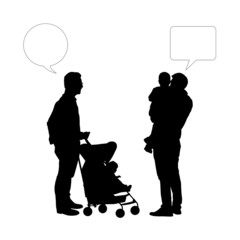 dialogue between two fathers of young children