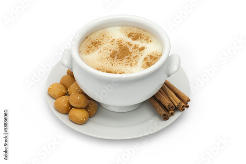 Middle eastern Dessert of Sahlab and Cinnamon isolated