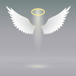 Постер, плакат: Angel wings on heavenly