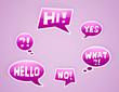 vector purple speech bubbles