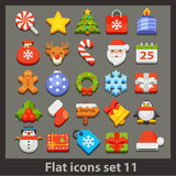 vector flat icon-set 11