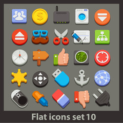 vector flat icon-set 10