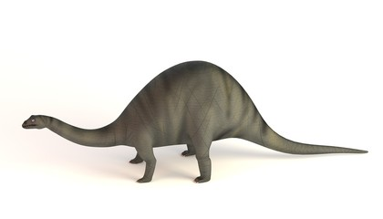 realistic 3d render of brontosaurus