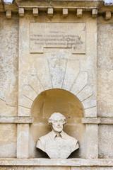 bust of William Shakespeare, Stowe, Buckinghamshire, England