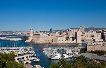 View of Fort Saint-Jean (circa 1660). Marseilles, France