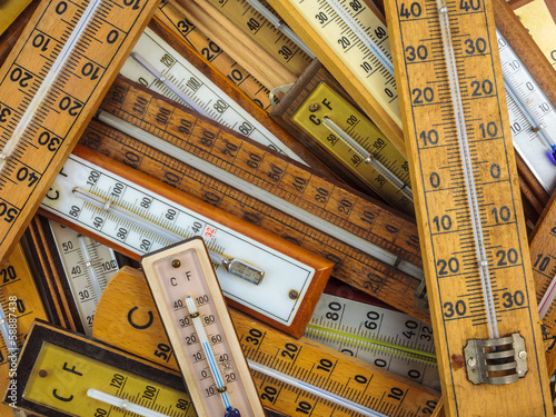 Group of vintage thermometers