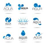 Fototapety Water design elements. Water icon (aqua)