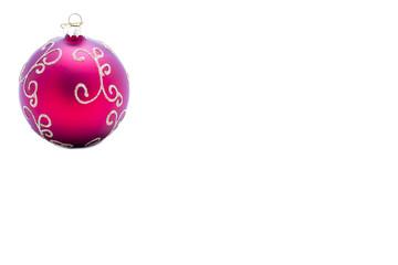Pallina rossa per addobbo natalizio