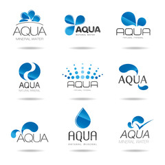 Water design elements. Water icon (aqua)