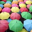 A beautiful decoration of umbrella