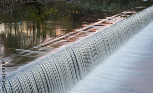 motion blurred river weir