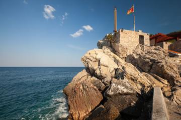 Castello, coastal Venetian fortress in Petrovac, Montenegro
