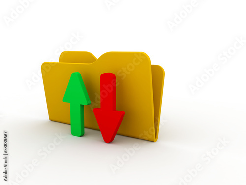 upload download folder icon
