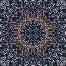Mandala. Indiska dekorativa mönster.