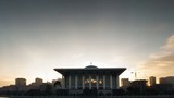 Timelapse sunrise Tuanku Mizan Zainal Abidin Mosque zoom out.