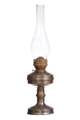 kerosene lamp isolated on white background