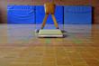 Leinwandbild Motiv Bock Sprungpferd mit Sprungbrett