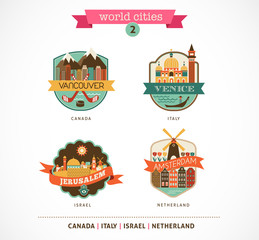 World Cities - Amsterdam, Venice, Jerusalem, Vancouver