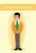 Постер, плакат: Мультипликационный персонаж офисный работник