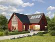 Einfamilienhaus 3 rot
