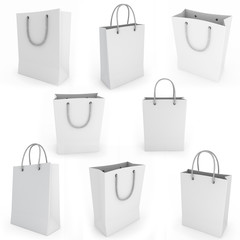 White shopping bag render image