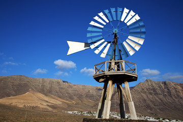africa windmills and the sky in  isle of l
