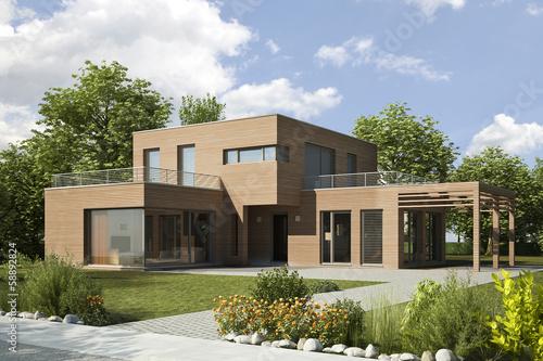 Einfamilienhaus Modern gamesageddon einfamilienhaus modern holz lizenzfreie fotos