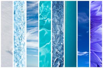 Dégradé de bleu dans la nature
