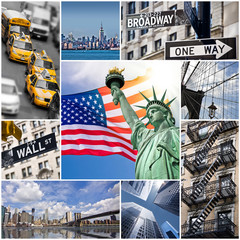 Collage carré New York - USA